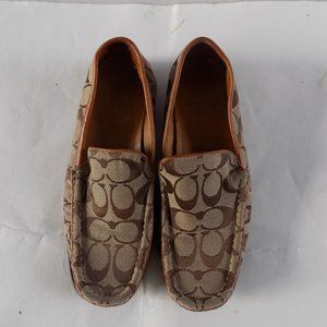COACH  Leather Loafers, Brown & Tan Coach Loafers